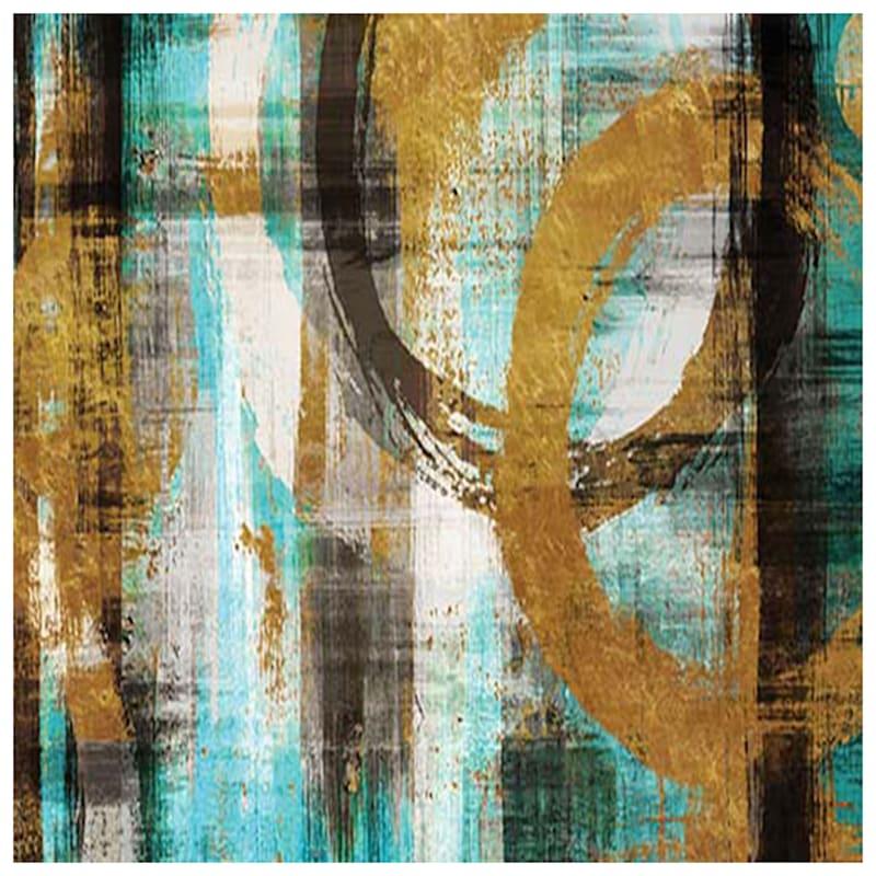 24X36 Aqua Abstract Canvas