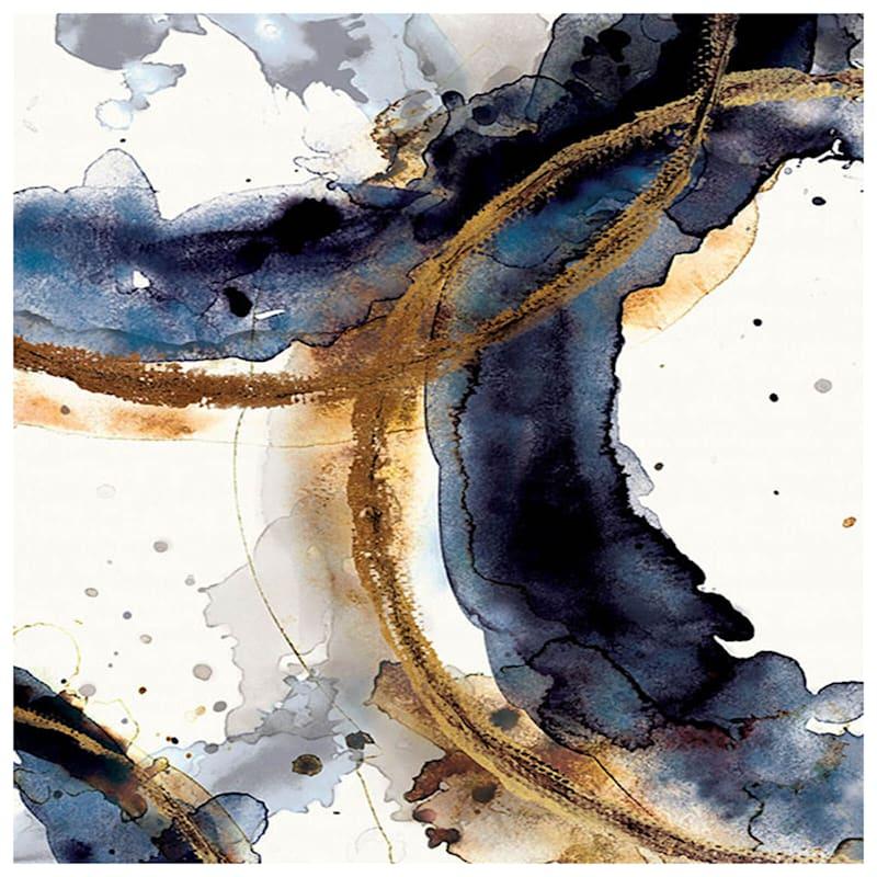 24X36 Indigo Circumference Abstract Canvas