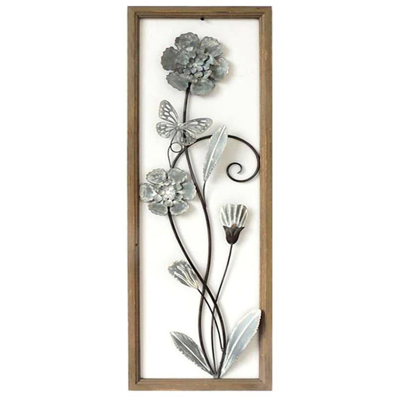 12X36 Metal Flowers Wall Art