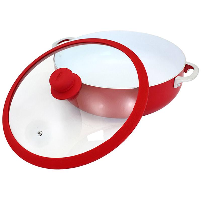 6.9qt Red Caldero W/Ceramic
