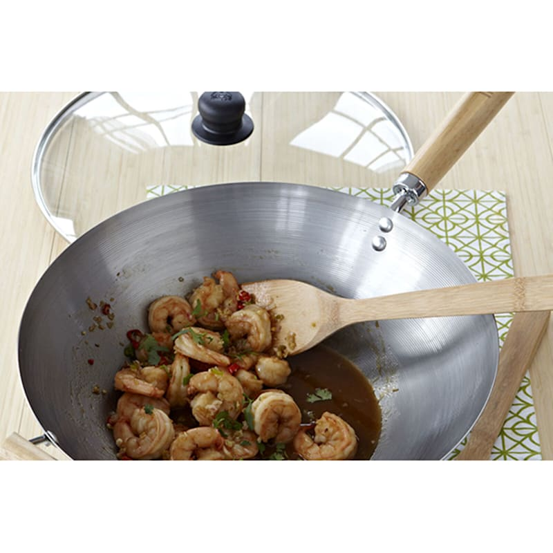 14in. Non-Coated Wok W/ Wood Handle