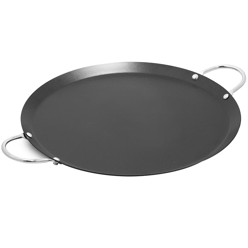 Imusa Round Comal Wok with Metal Handle, 11""
