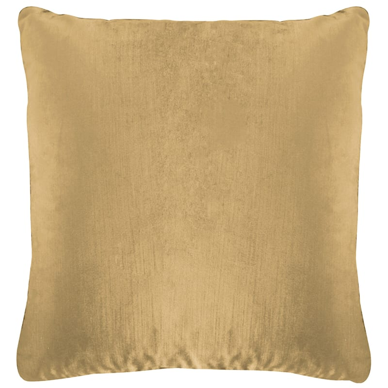 Gillmore Taupe Velvet Decorative Pillow 24X24