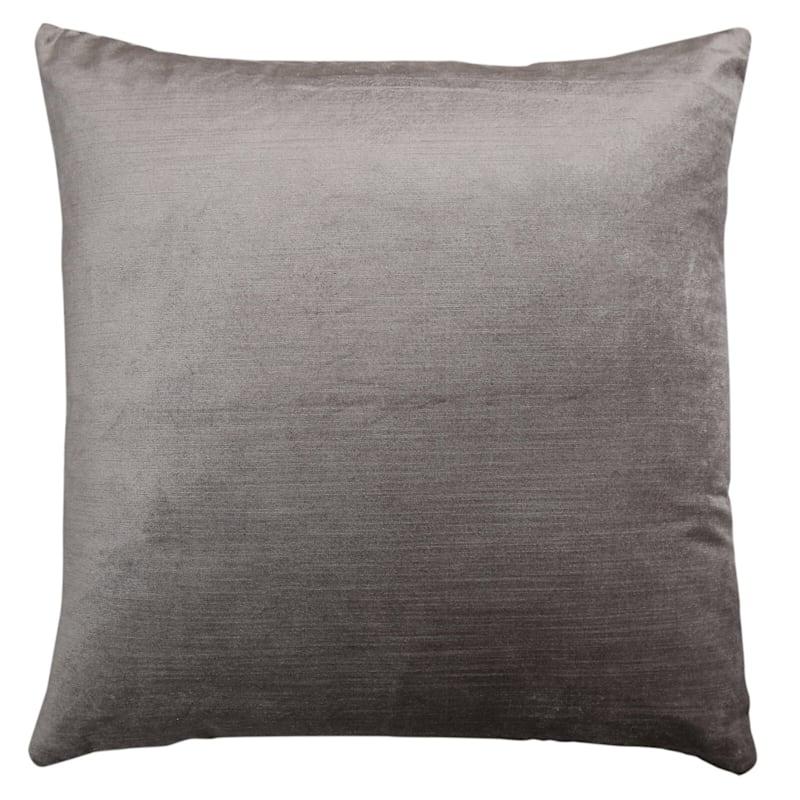 Gillmore Grey Velvet Decorative Pillow 24X24