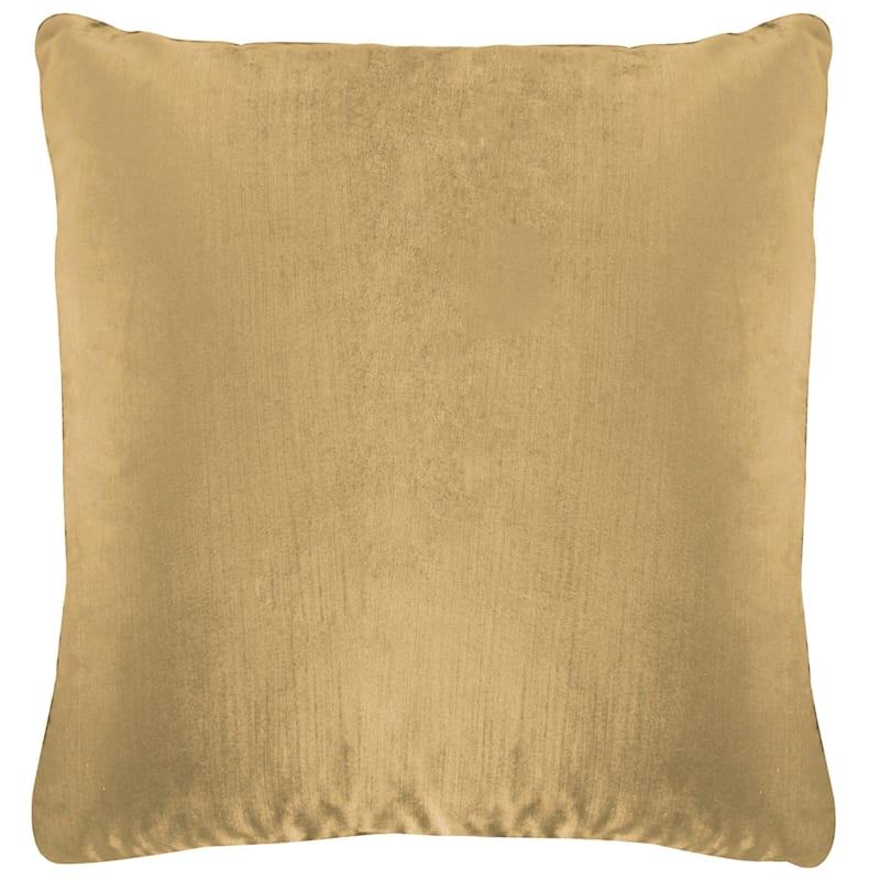 Gillmore Taupe Velvet Decorative Pillow 18X18