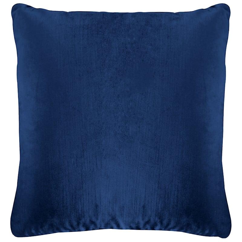 Gillmore Navy Velvet Decorative Pillow 18X18