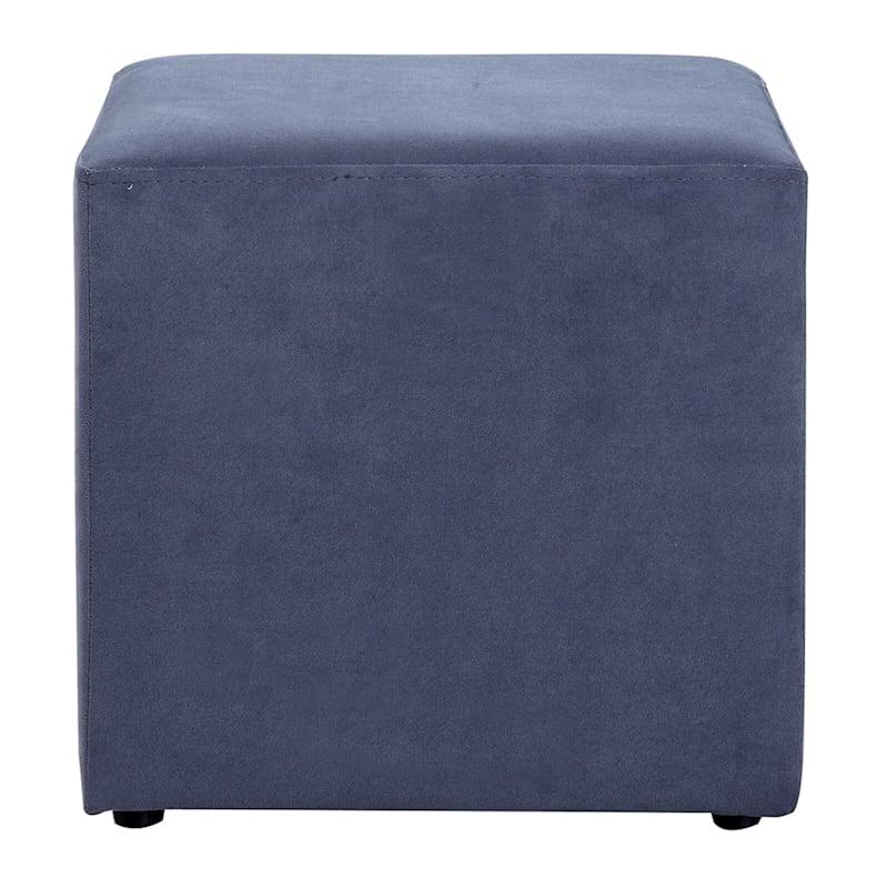 Addie Cube Ottoman Gray