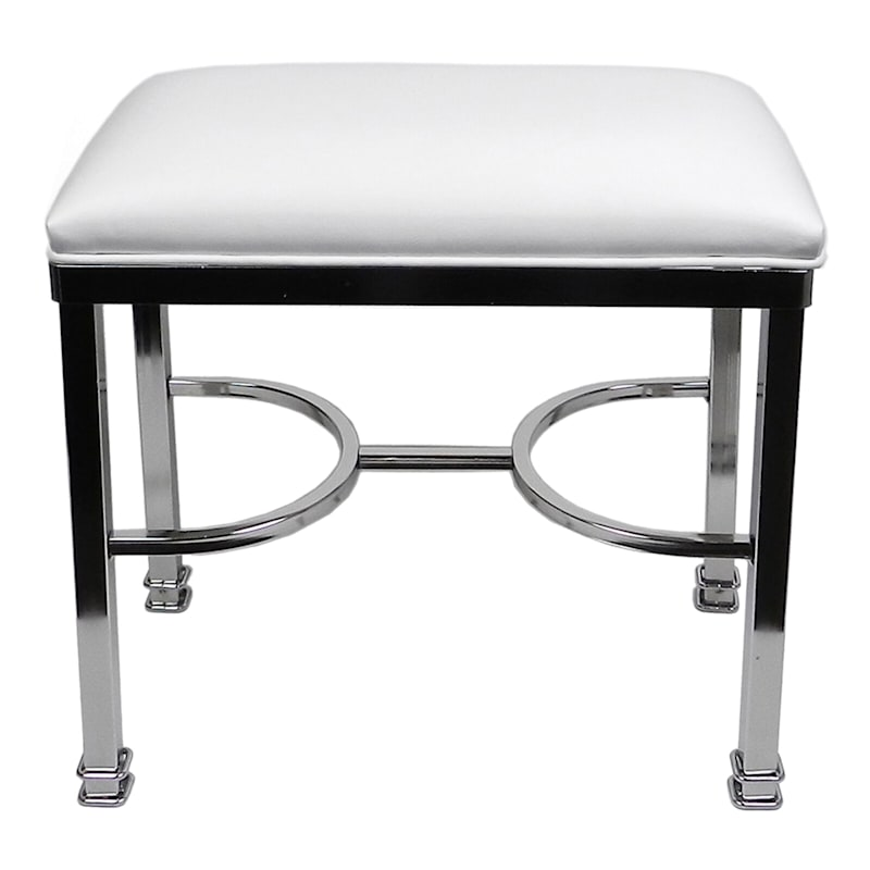 Vanity Bench Chanel Chrome White