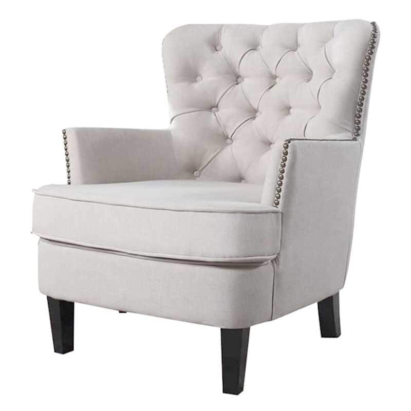 Bentley Ivory Upholstered Accent Chair
