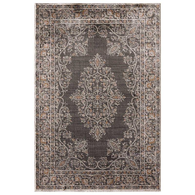 (B419) Milan Goddard Grey Woven Area Rug, 7x10