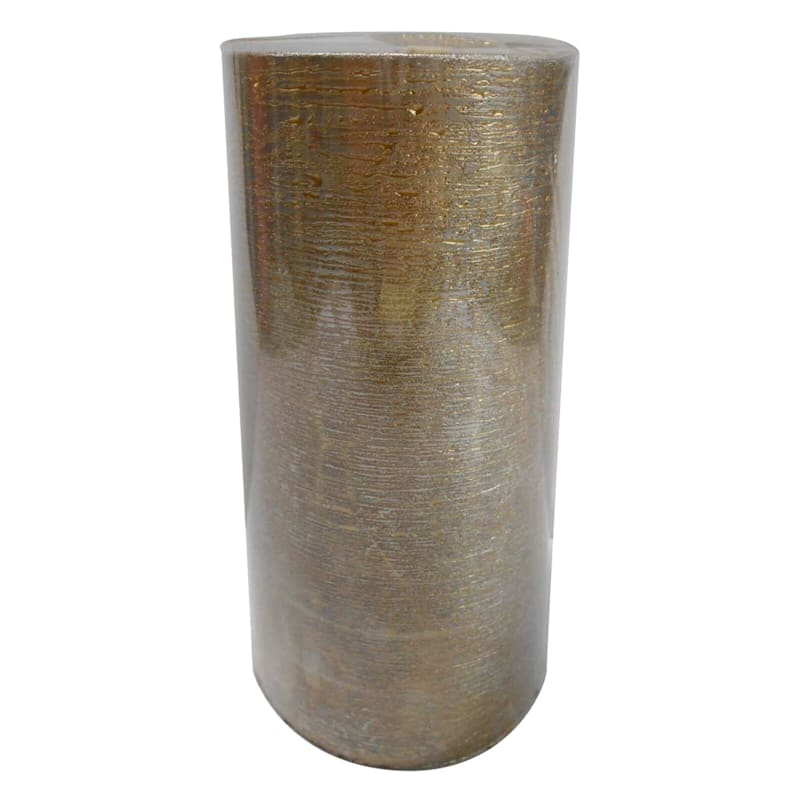 Silver and Gold Pillar candle - 3x6 in.