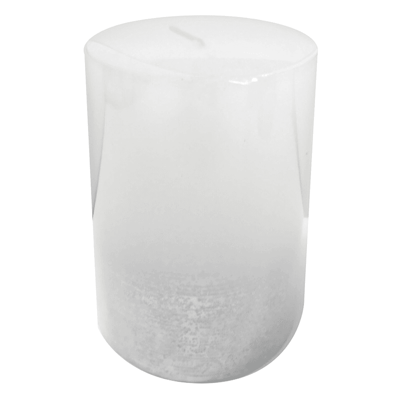 3X4 Distressed Ombre Pillar Candle White/Silver