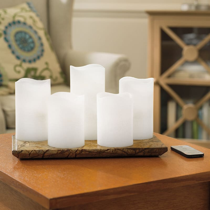 5-Pack Led Wax Candles Wavy Top 3X4 3X5 3X6