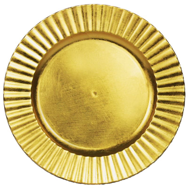 """Gold Wavy Charger Plate, 13"""""""