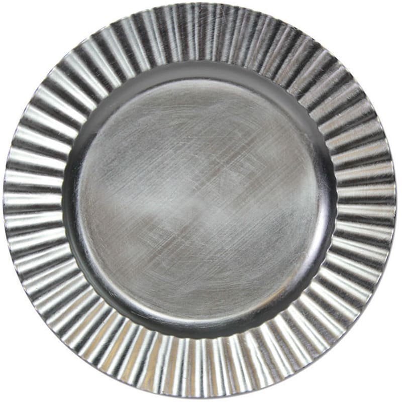 Wavy Silver Charger