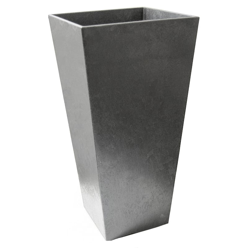 Sonata Silver Recycled Rubber Planter 15X15X28