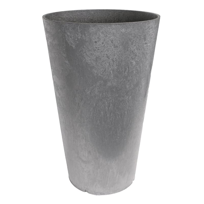 Concerto Silver Recycled Rubber Planter 14X14X26
