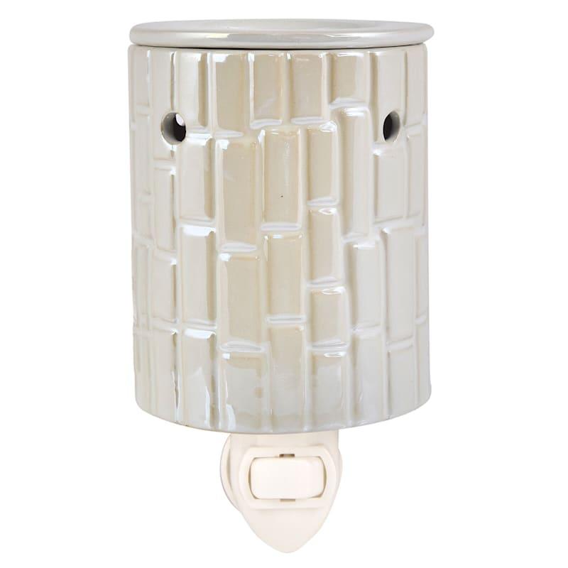 White Mosaic Plug In Wax Warmer