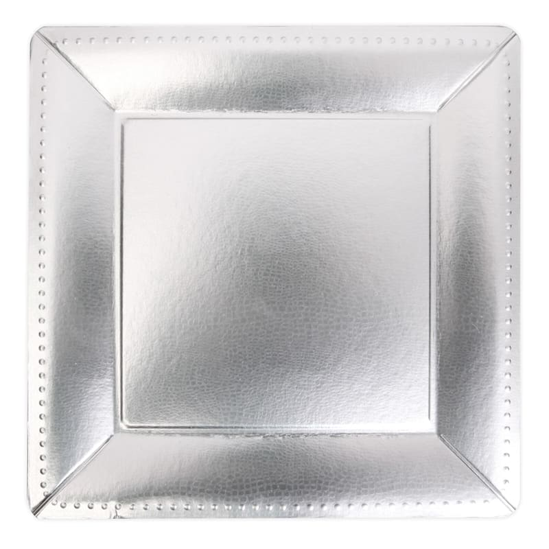 Silver Square Charger