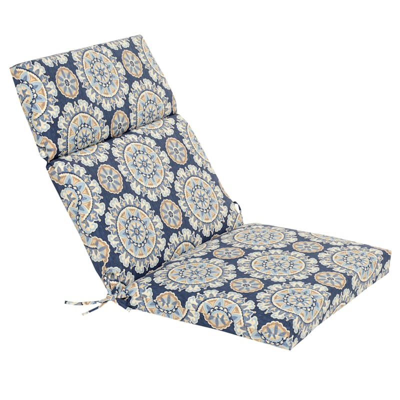 Talahari Cornflower Steel Hinged Chair Cushion