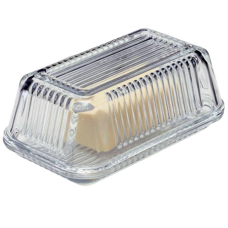 Farm Glass Butter Dish