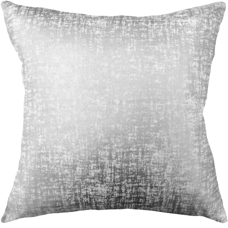 Luxor Silver Metallic Foil Pillow 18X18
