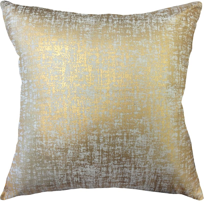 Luxor Gold Metallic Foil Pillow 18X18