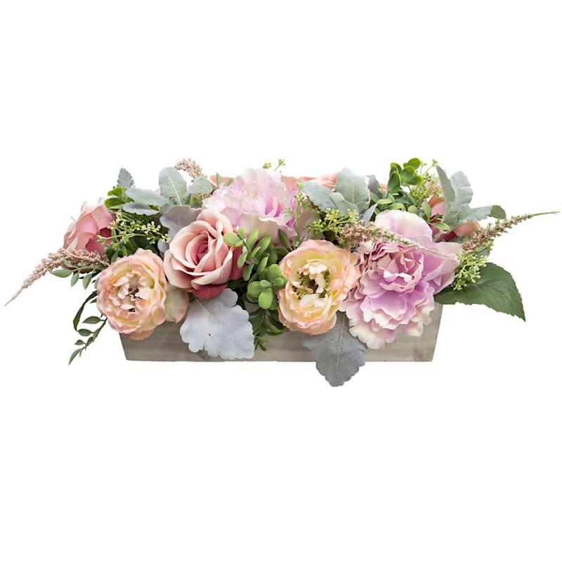 """Boxed Flower Arrangement, 15"""""""