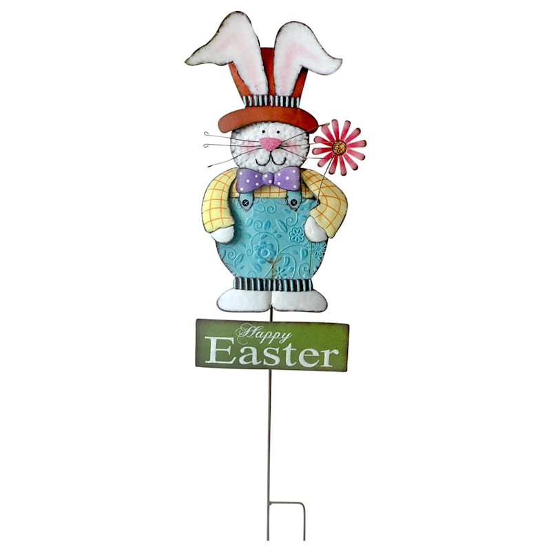 'Happy Easter' Boy Bunny Stake 40-in