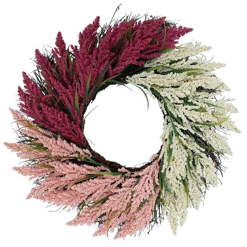 Heather Spiral Wreath 22in.