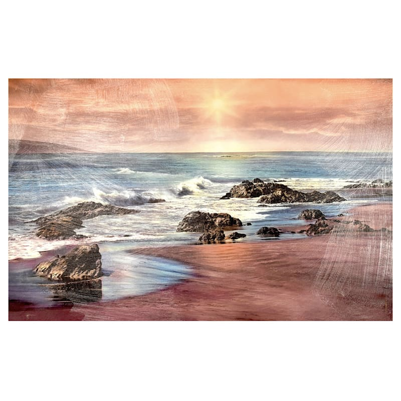 24X36 Near Dusk Coastal Landscape Canvas Art