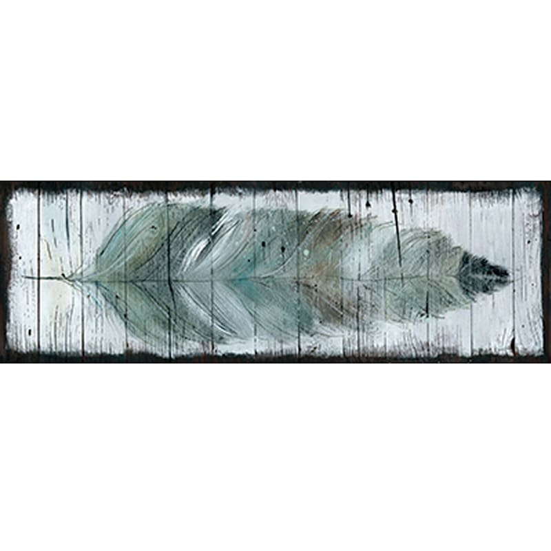 12X36 Stained Feather Canvas Art