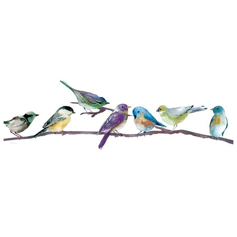 12X36 Birds On Branch Canvas Art