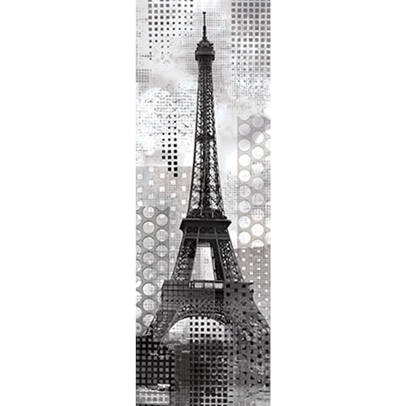 12X36 Modern Eiffel Tower Canvas Art