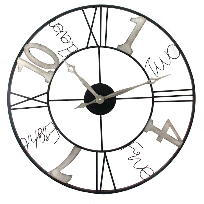 31in. es Round Metal Wall Clock
