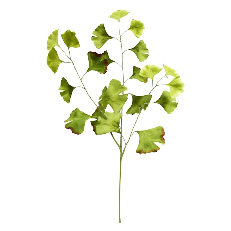 Gingko Leaves Spray 38.5in. Light Green
