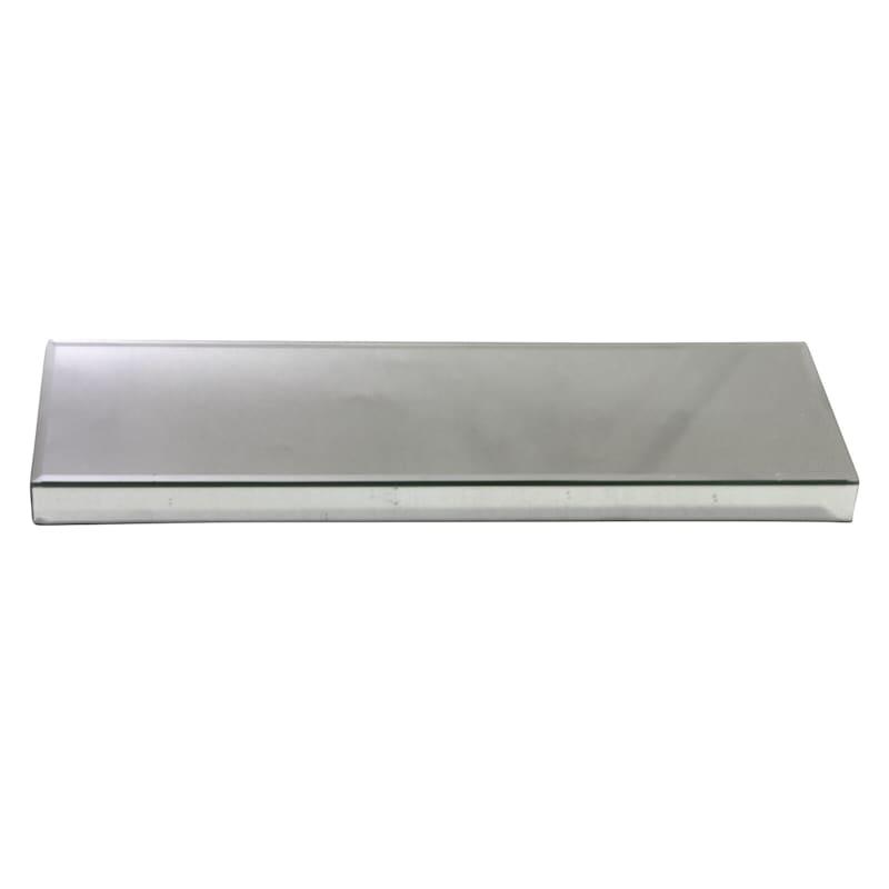 6X18 Silver Mirror Riser