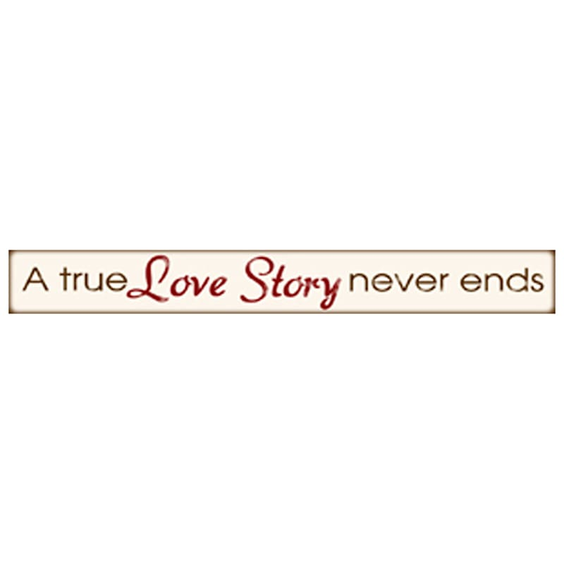 6X36 True Love Story Never Ends Canvas