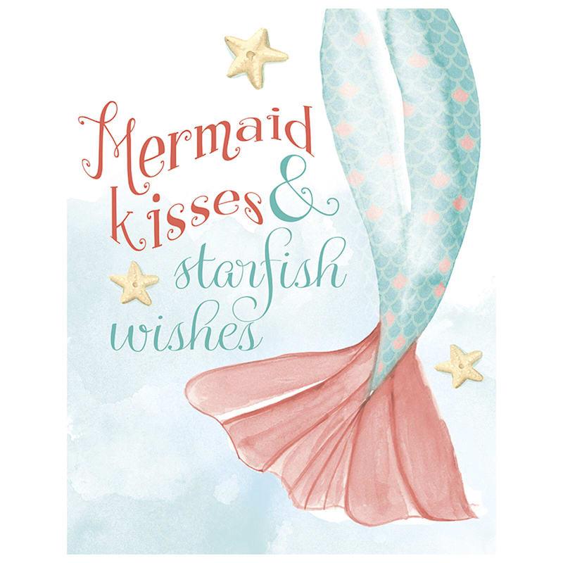 11X14 Swim With Mermaids Canvas