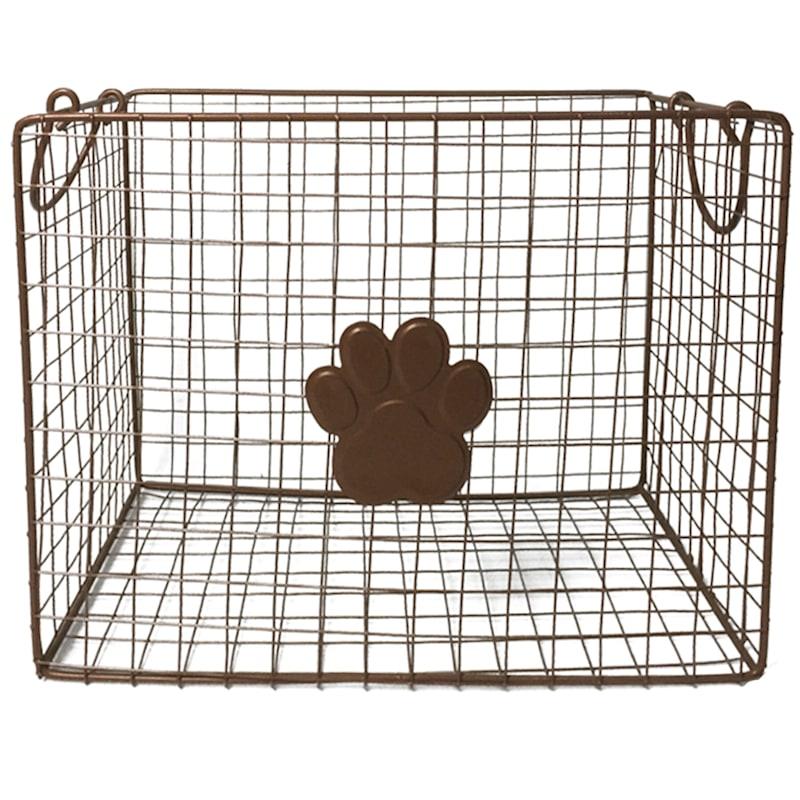 2-Piece Rectangular Copper Wire Basket Set