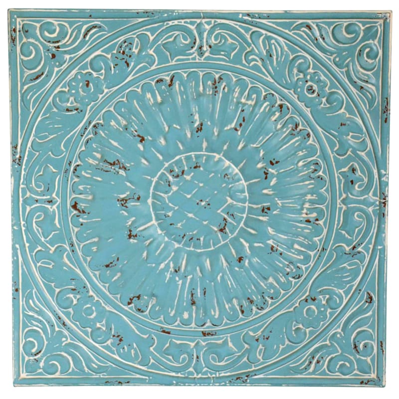 12X12 Embossed Metal Medallion Wall Decor