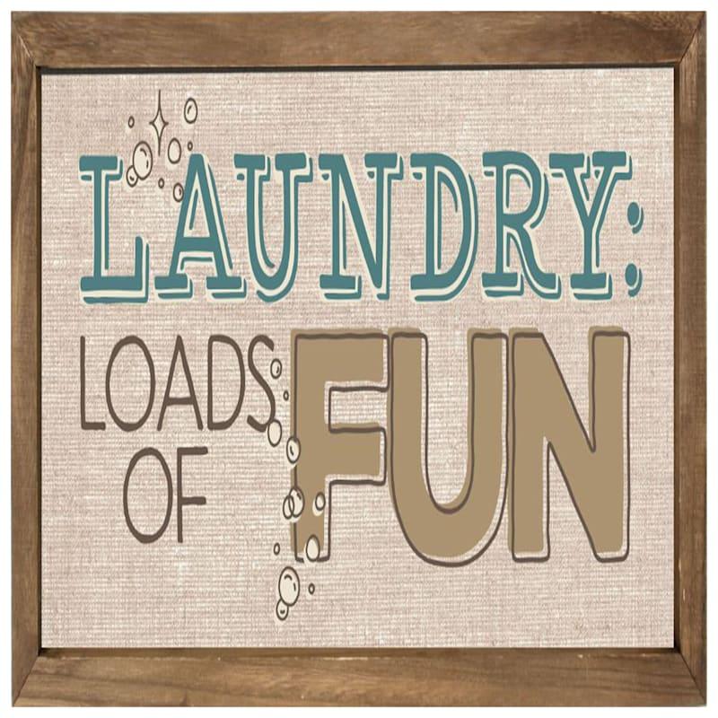 21X11 Laundry Loads Rustic Framed Art