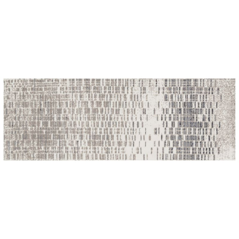 (A285) Chelsea Ivory & Grey Runner, 2x7
