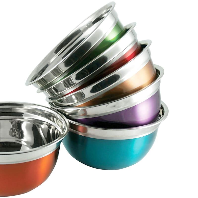 Metal 5 Quart Multi Color Mixing Bowl