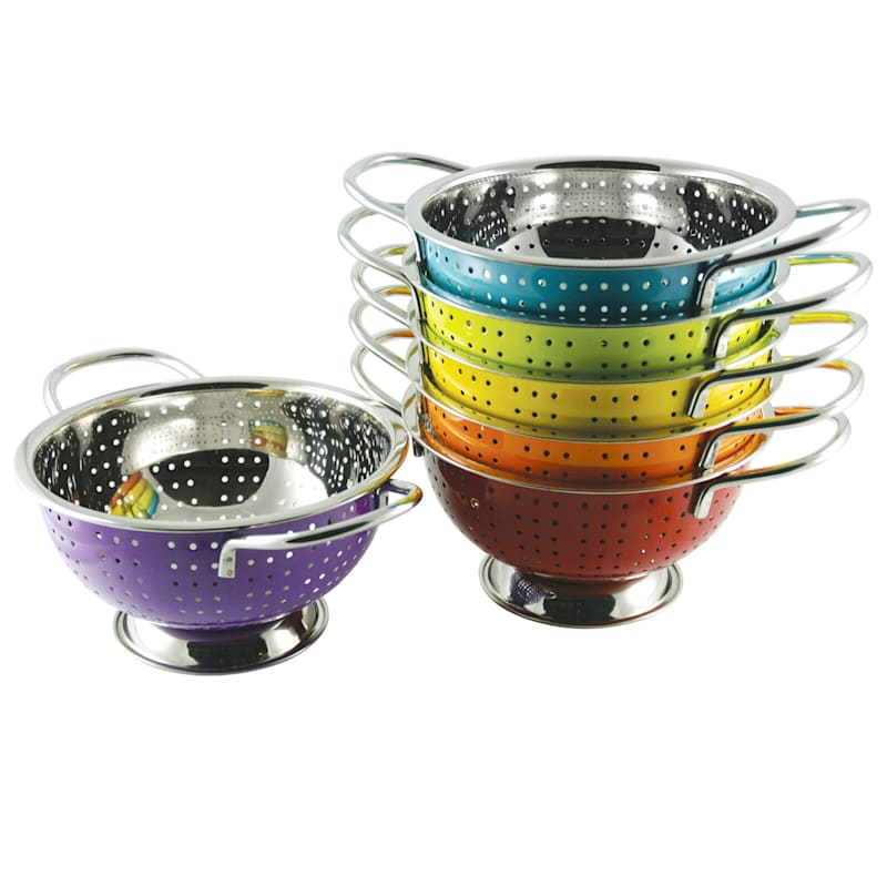Metal Multi Color Berries Colander