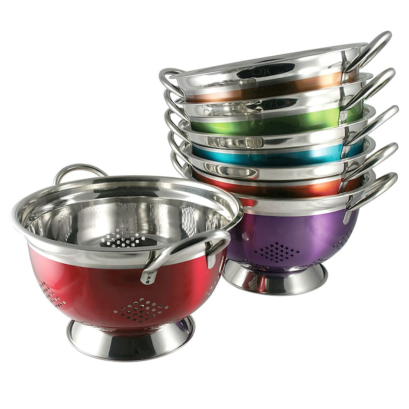 Metal 5 Quart Multi Color Colander
