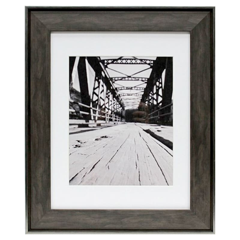 11X14 Matted To 8X10 Black/Brown Poster Frame