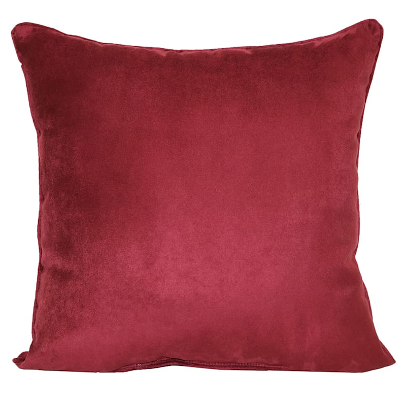 Heavy Suede Throw Pillow, Red
