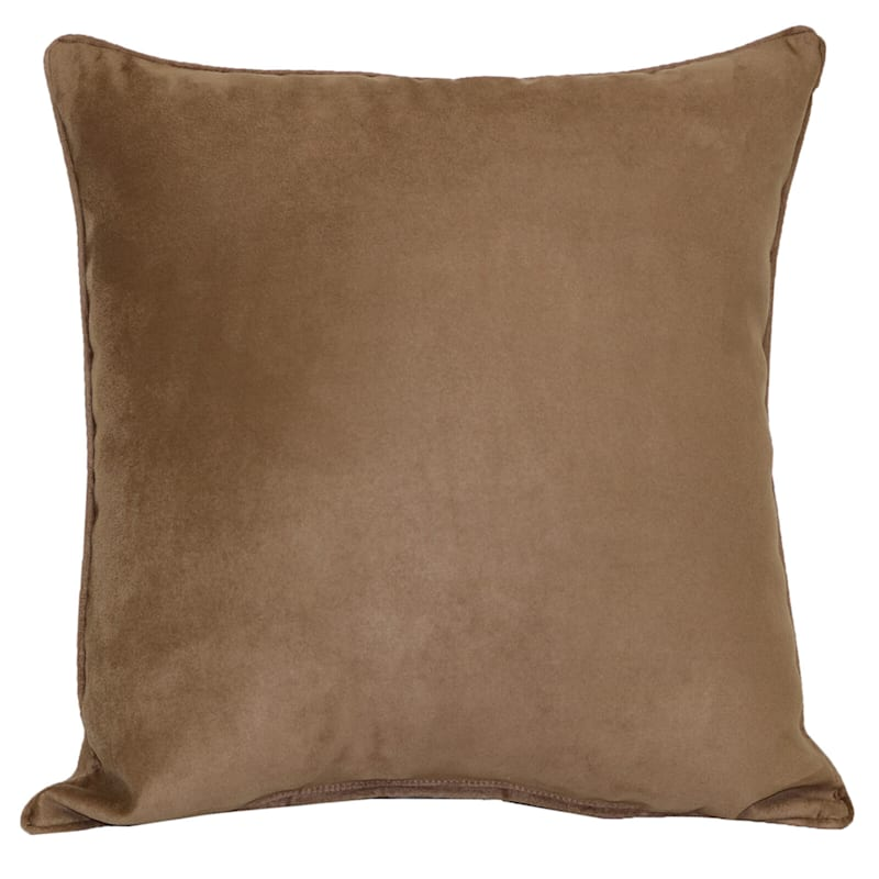Heavy Suede Toss Pillow, Tan
