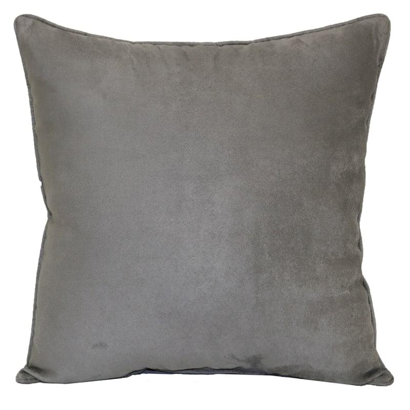 Heavy Suede Toss Pillow, Light Gray